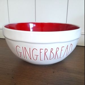 Rae Dunn GINGERBREAD bowl with red. 2018